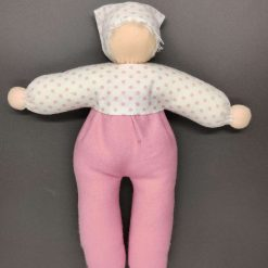 Cuddle doll (pink - dots) for 1-3 year olds