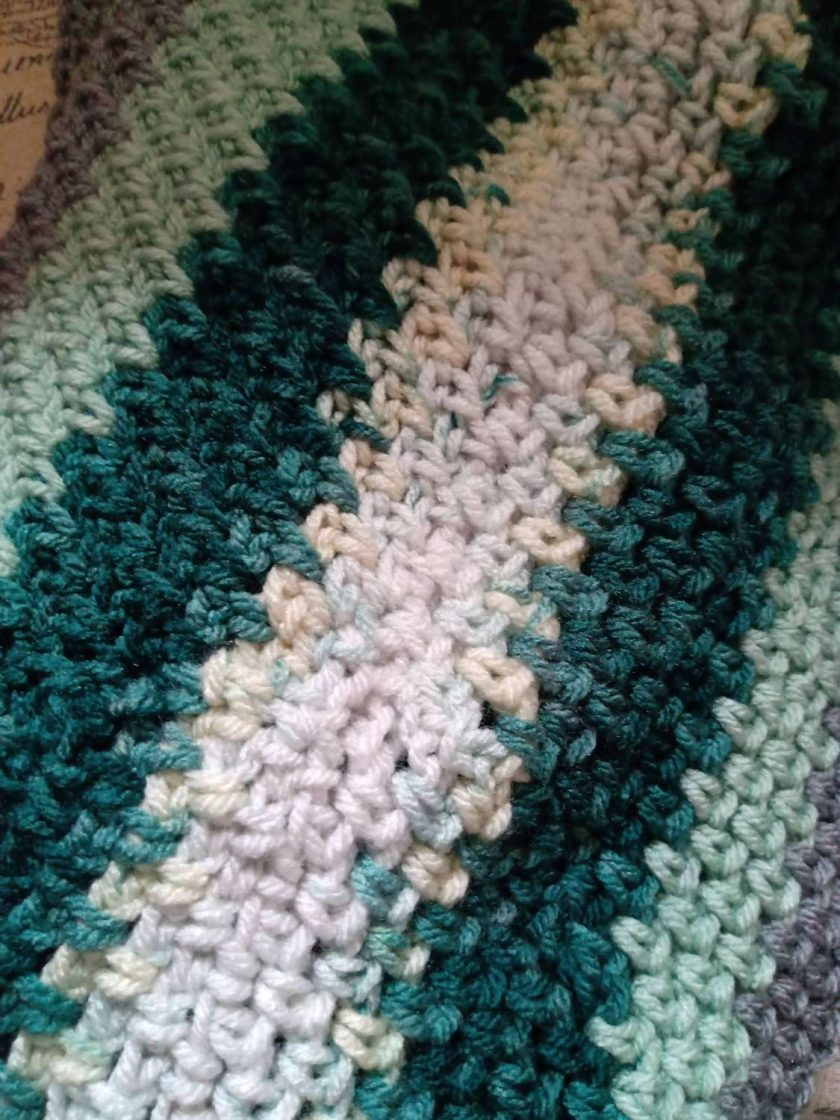 Crochet Cowl Multi - Green 2