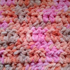 Crochet Baby Blanket - Pink Multi Colour 4
