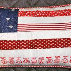 American Flag cushion cover