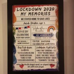 Lockdown memories print (framed) (Copy)
