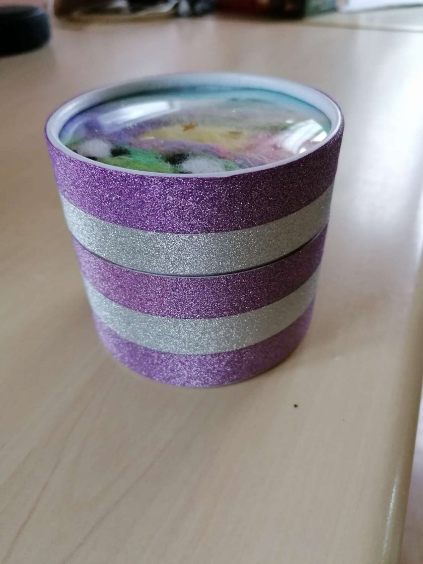 Trinket box with needle felted lid 2