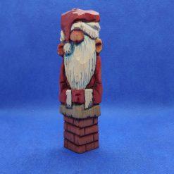 Santa Stuck In A Chimney - wooden Xmas/Christmas decoration
