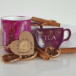 PURPLE DREAM TEA SET -  Hand painted | Dishwasher and Microwave Safe |