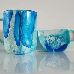 OCEAN TEA SET -  Hand painted | Dishwasher Safe |