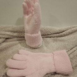 Hand knitted children's gloves