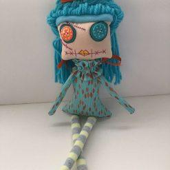 PrickelsandSpike Bell Doll, OOAK Doll, Gift, Home Decor, Keepsake, 6
