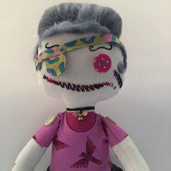Auntie Flow,  PricklesandSpike, OOAK, handmade, Doll, Gift, Accessories, Keepsake
