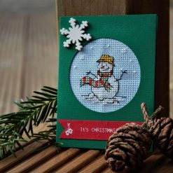 Cross stitch Snowman No1