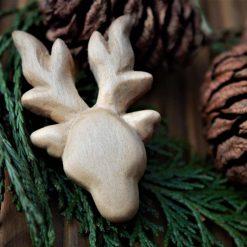 Reindeer Magnet (wood carving)