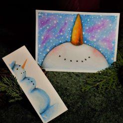 Watercolour Snowman set
