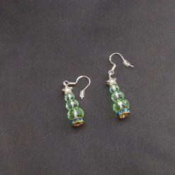 Sterling Silver Christmas Tree Earrings