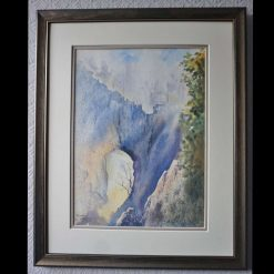 """""""Into the Light"""": an Original Watercolour Landscape painting by Rosemary Hale"""