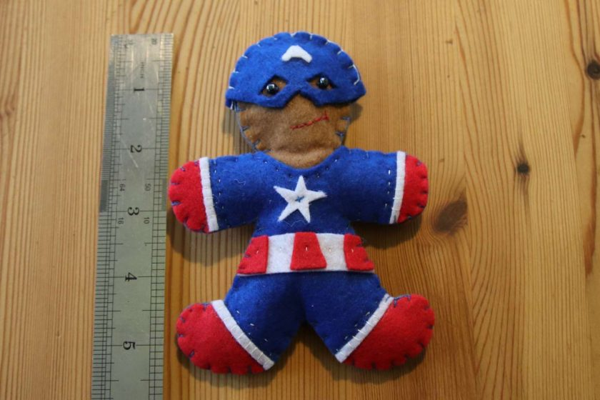Blue Felt Super Hero Cuddle Toy Tree decoration 1