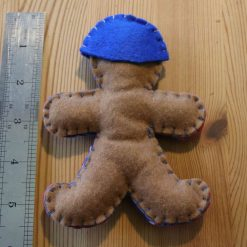 Blue Felt Super Hero Cuddle Toy Tree decoration 3