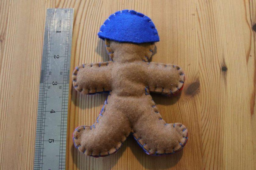 Blue Felt Super Hero Cuddle Toy Tree decoration 2