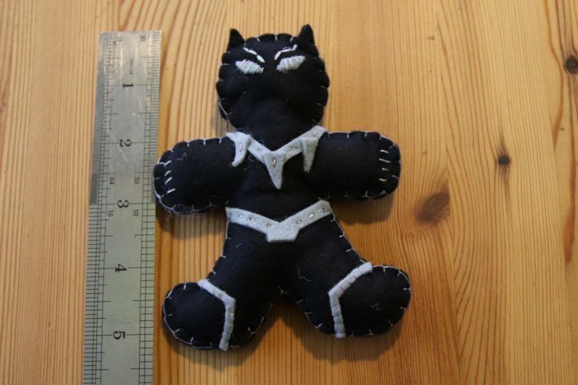 Black Felt Super Hero Cuddle Toy Tree decoration 1