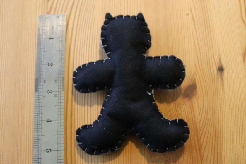 Black Felt Super Hero Cuddle Toy Tree decoration 2