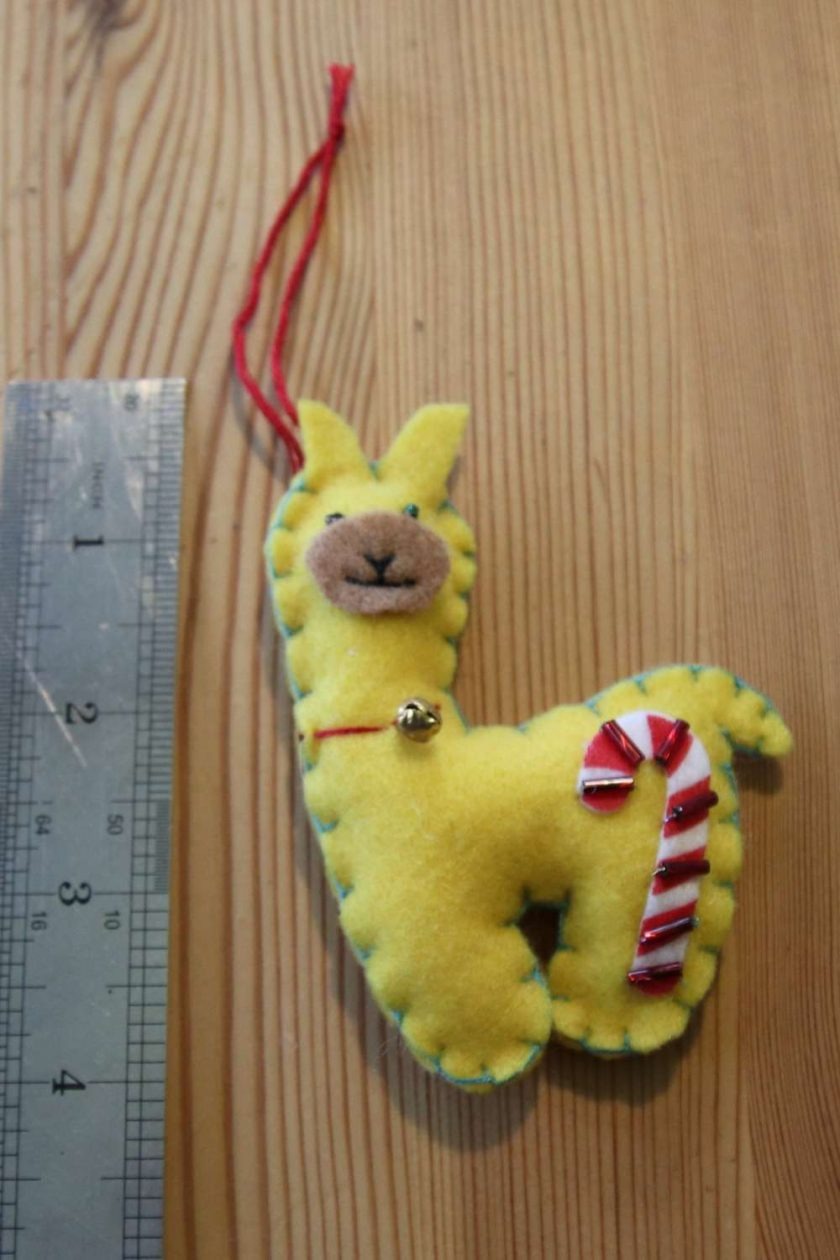 Yellow Llama Toy Tree decoration 1