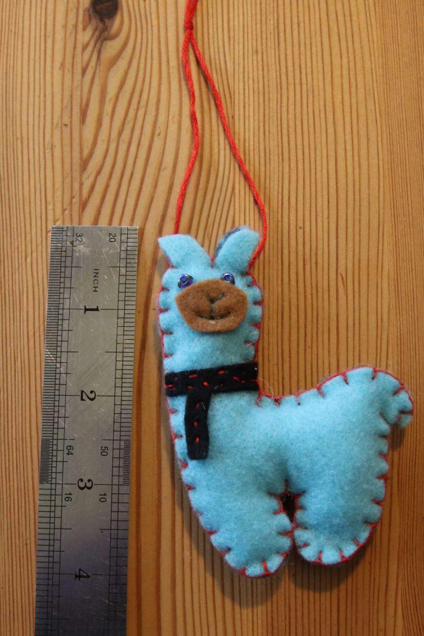 Blue Llama Toy Tree decoration 1