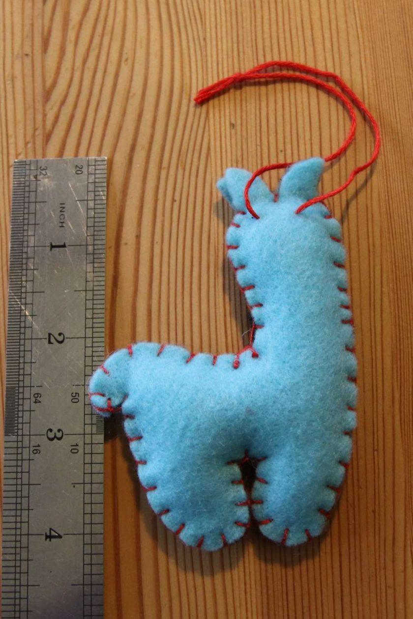 Blue Llama Toy Tree decoration 2