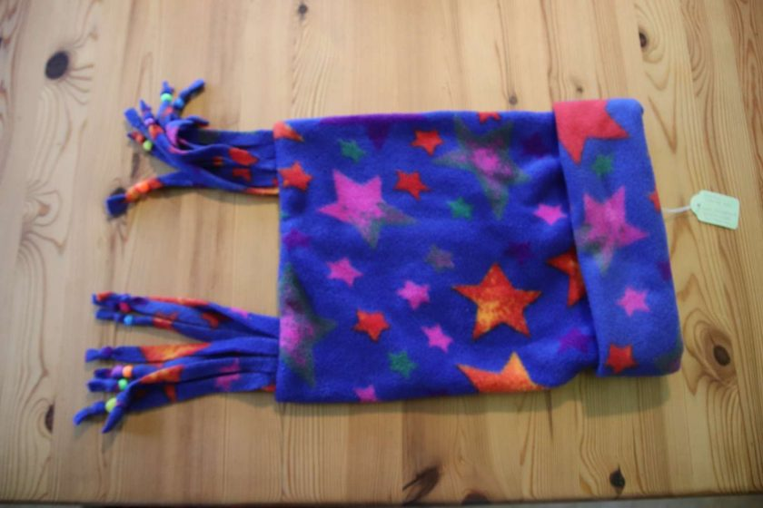 Fleece hat and scarf  Small child size Blue Star 1