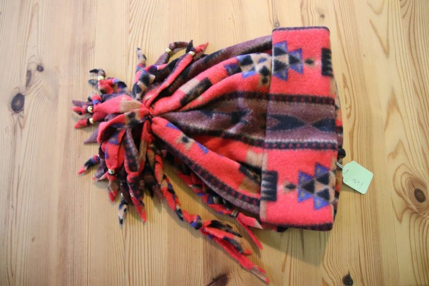 Fleece hat and scarf  Small child size Aztec print 1