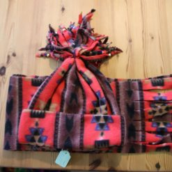 Fleece hat and scarf  Small child size Aztec print 3