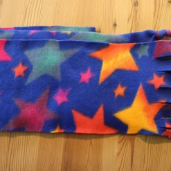 Fleece hat and scarf  Small child size Blue Star 5