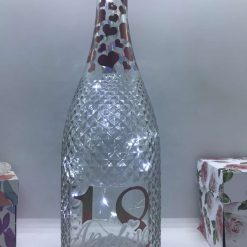Personalised Light Up Bottle | Milestone Birthday Gift 18th, 21st, 30th, 40th, 50th, 60th, 70th any age