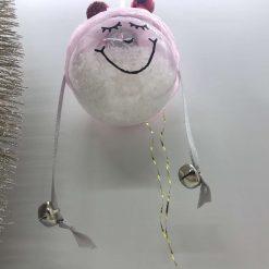 Handmade cheeky girl Christmas bauble decoration.