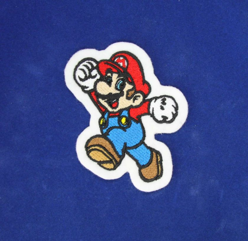 Mario Cartoon Iron on / Sew on Embroidered Patch 1