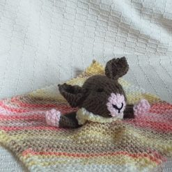 Baby Comforter Cloth, Critter-Cloths, Baby Snuggle Cloth: Multi-Pink, Dark Brown
