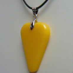Yellow Heart Pendant 2