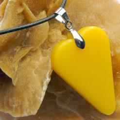 Yellow Heart Pendant 4