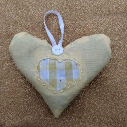 Yellow heart lavender sachet
