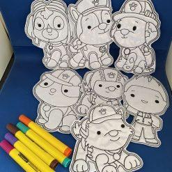 Children's Colouring Sets - Paw Patrol