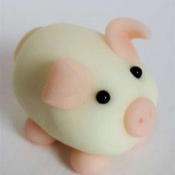 Mini pig - glow in the dark - ornament - gift - cake topper 1
