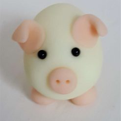 Mini pig - glow in the dark - ornament - gift - cake topper