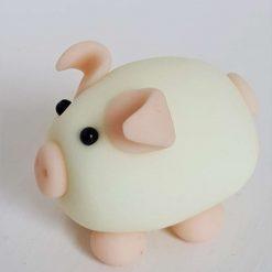 Mini pig - glow in the dark - ornament - gift - cake topper 2