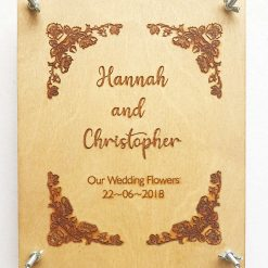 Personalised Wedding Flower Press - Remember Your Wedding Flowers Forever