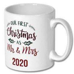 Christmas Coffee Mug 10 oz Mr & Mrs