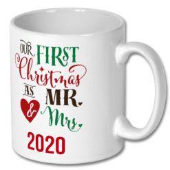 Christmas Coffee Mug 10oz Mr & Mrs