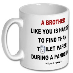 Coffee Gift Mug 10 oz for Brother - Personalised 3