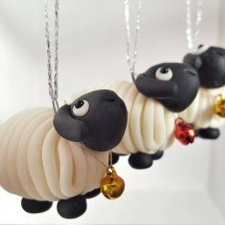 Sheep hanging ornament - glow in the dark - decoration - gift