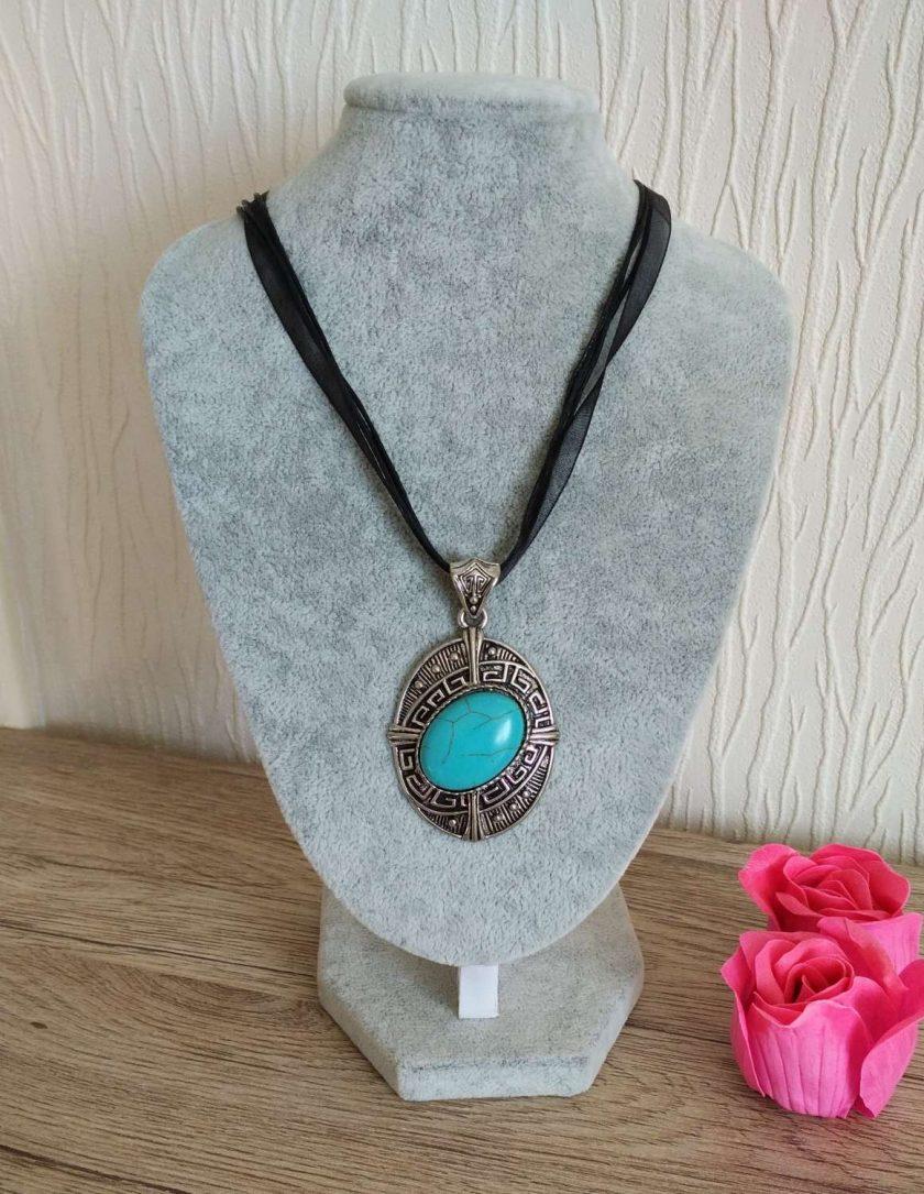 Jewellery: Turquoise pendant 1