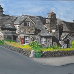 PAINTING OF OLD POST OFFICE, TINTAGEL