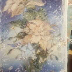 Ponsietta White on canvas. Size A3