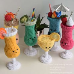 Crocheted Cocktail Glasses