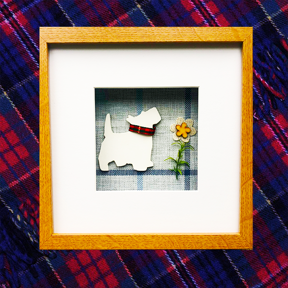West Highland Terrier (Westie) 3D Box Framed Custom Made Wall Hanging Picture 6